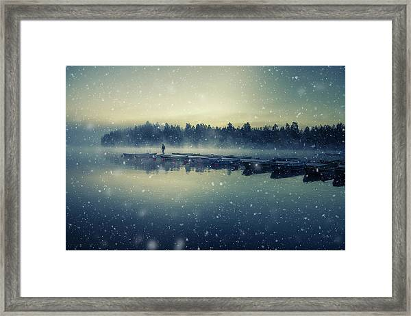 Winter Is Coming. Framed Print