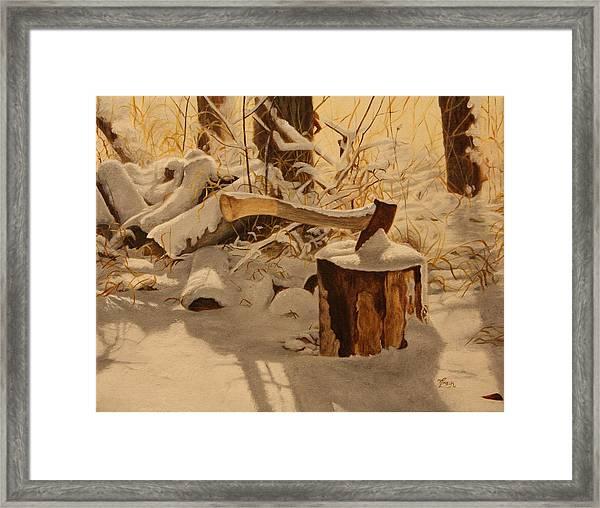 Winter Labour Framed Print