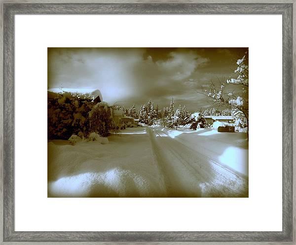 Winter Lane Framed Print