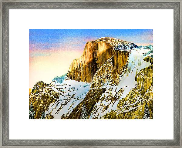 Winter Last Light Framed Print