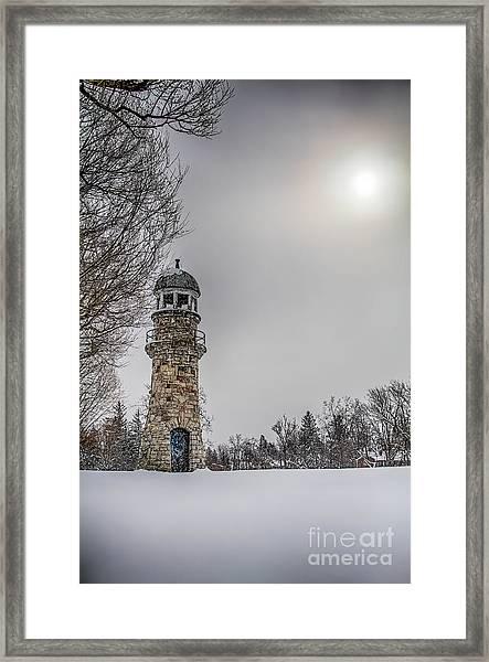 Winter Lighthouse Framed Print