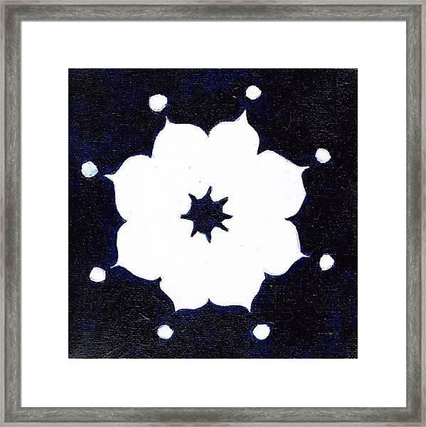 Winter Mandala Framed Print