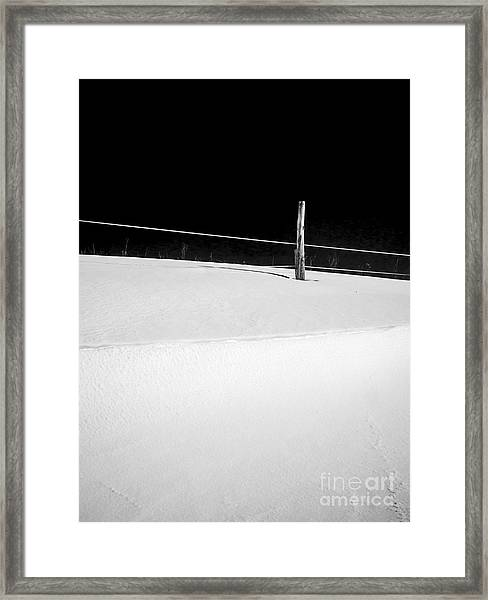 Winter Minimalism Black And White Framed Print