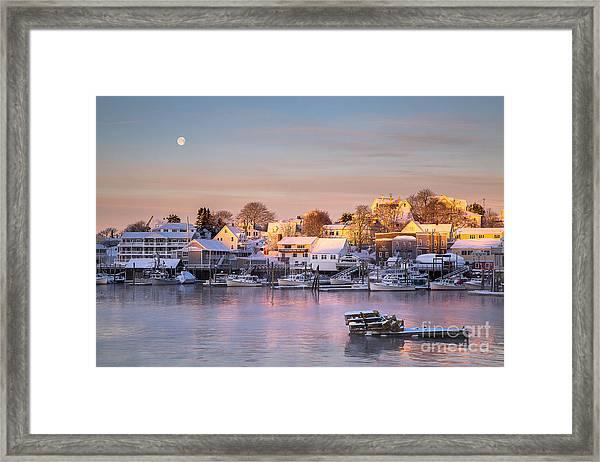 Winter Morning In Boothbay Harbor Framed Print