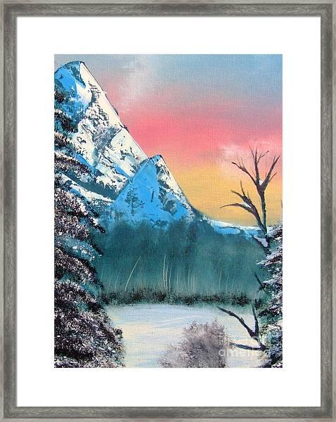 Winter Mountain Twilight Framed Print
