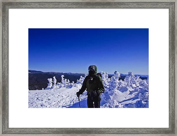Winter On Mt Jackson Framed Print