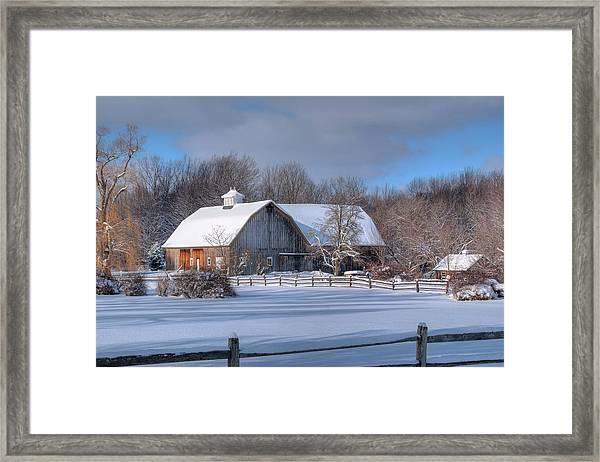 Winter On The Farm 14586 Framed Print