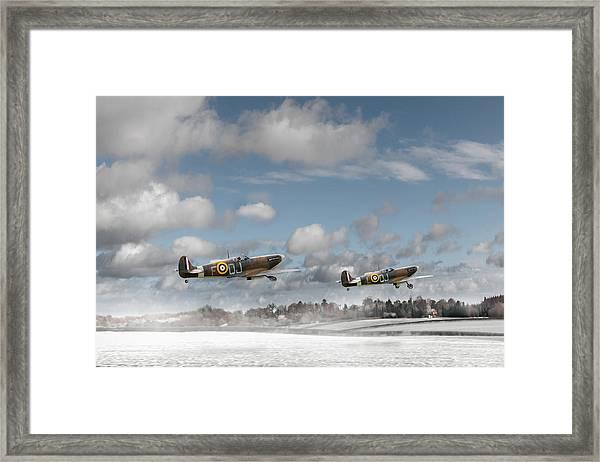 Winter Ops Spitfires Framed Print