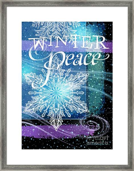 Winter Peace Greeting Framed Print