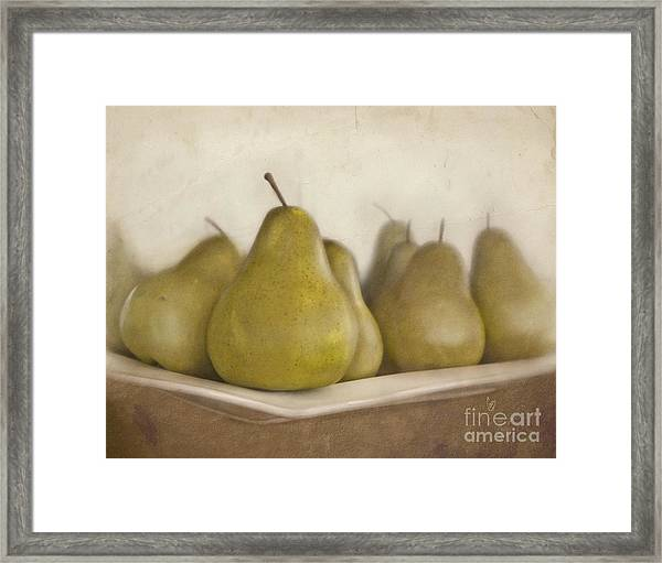Winter Pears Framed Print