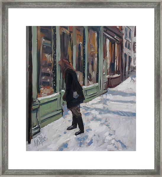 Winter Peekaboo Framed Print