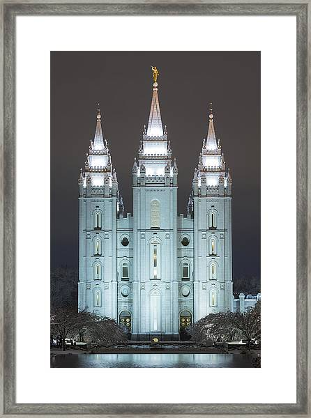 Framed Print featuring the photograph Winter Reflection by Dustin  LeFevre