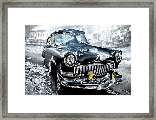 Winter Road Warrior Framed Print