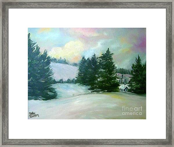 Winter Sang In The Chimneys Framed Print