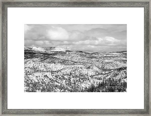 Winter Scenery In Bryce Canyon Utah Framed Print by Julia Hiebaum