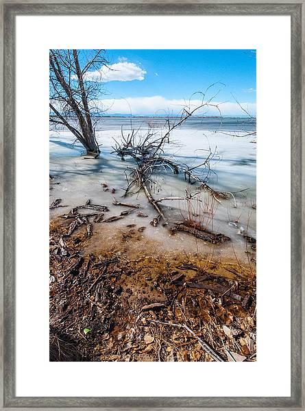 Winter Shore At Barr Lake_2 Framed Print