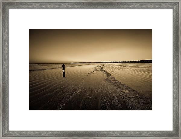 Winter Solitude At York Framed Print