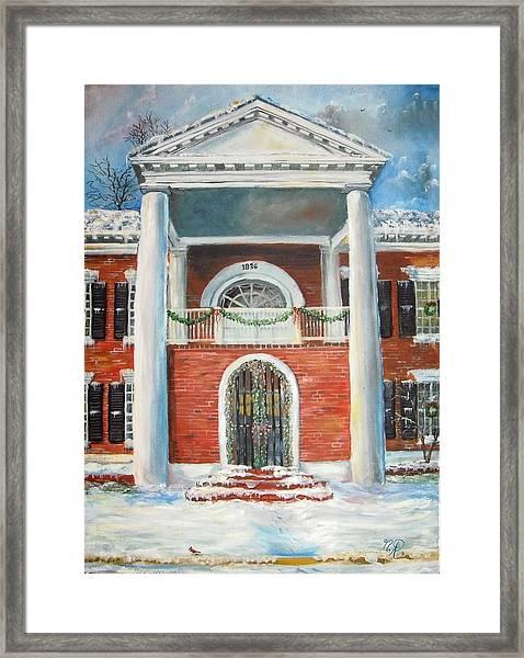 Winter Spirit In Dahlonega Framed Print
