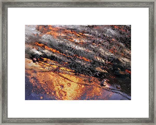 Winter Steam Framed Print