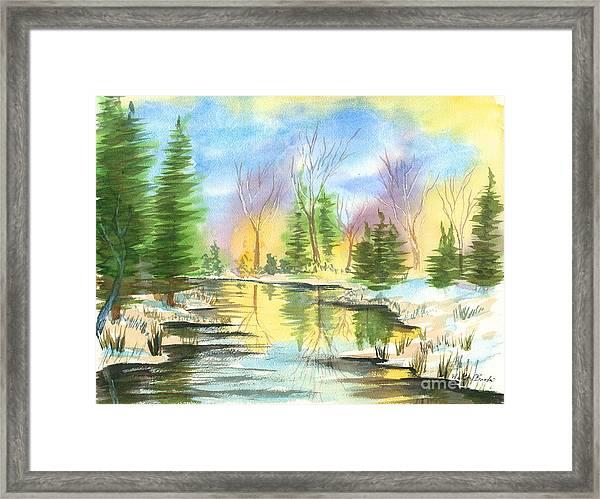 Winter Stillness Framed Print