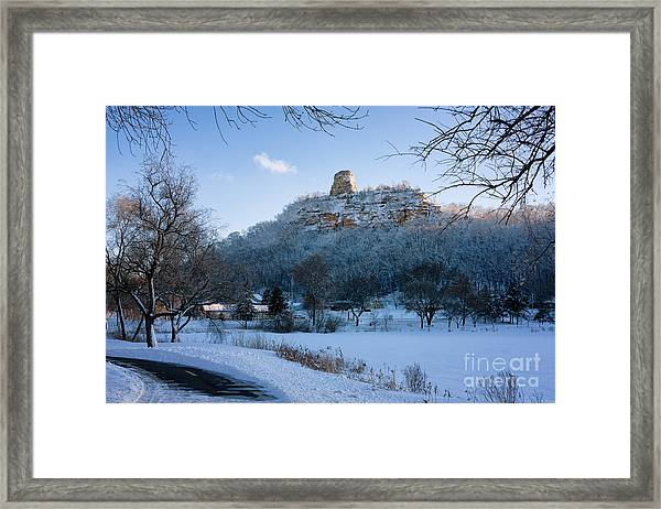 Framed Print featuring the photograph Winter Sugarloaf At East Lake by Kari Yearous
