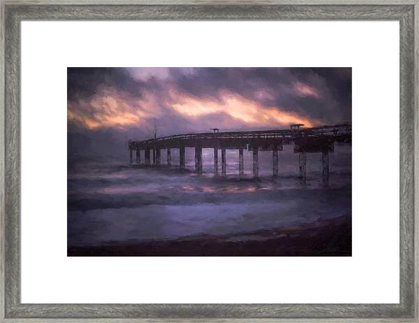 Winter Sunrise St. Augustine Beach Framed Print