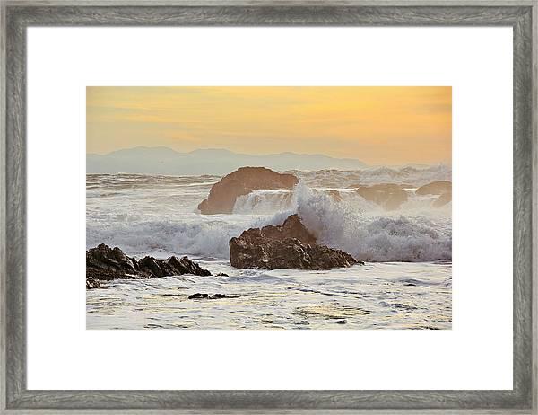 Winter Sunset At Port Renfrew Framed Print