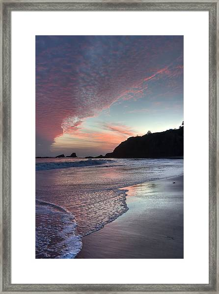 Winter Sunset Crescent Bay Framed Print
