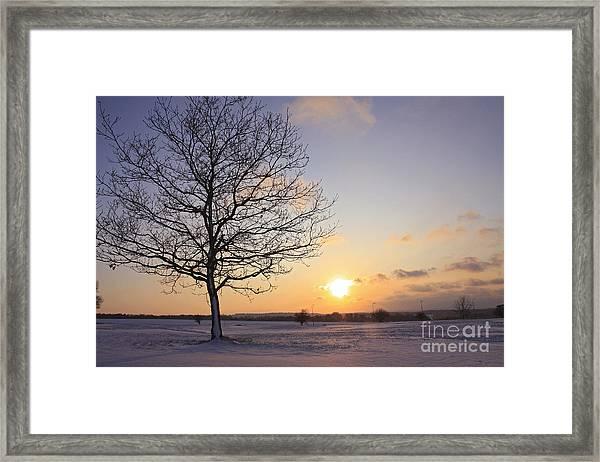 Winter Sunset Uk Framed Print