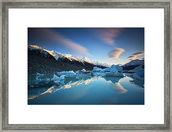 Winter Symmetry Framed Print by Yan Zhang