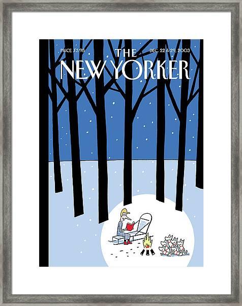 Winter Tails Framed Print