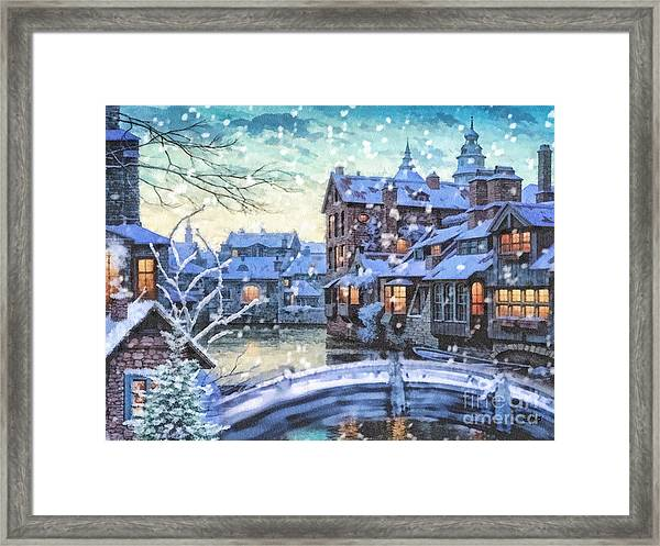 Winter Twilight Framed Print