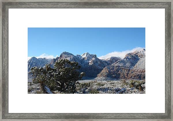 Winter Valley Framed Print
