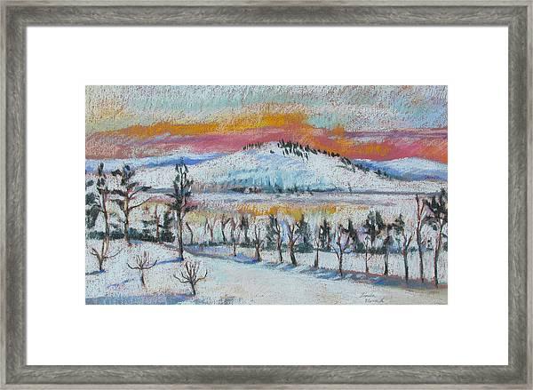 Winter View From Kripalu Framed Print