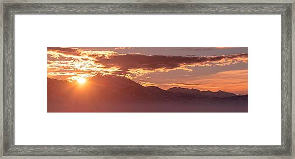 Winter Wasatch Daybreak Framed Print