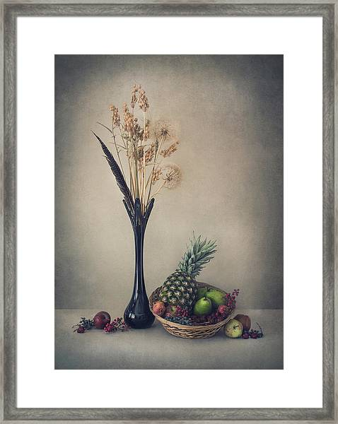 Winter With Fruits Framed Print