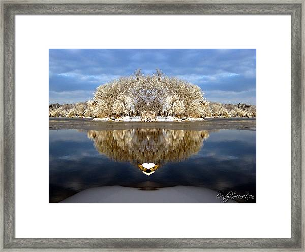 Winter Wonderland Love Framed Print