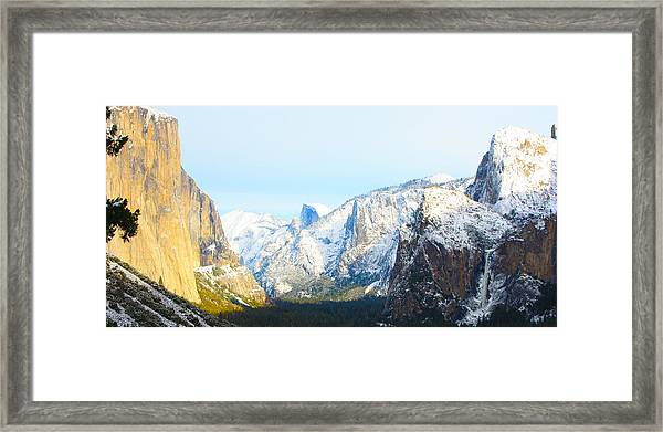 Winter's Blessing Framed Print