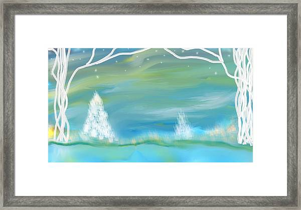Winters Edge Framed Print