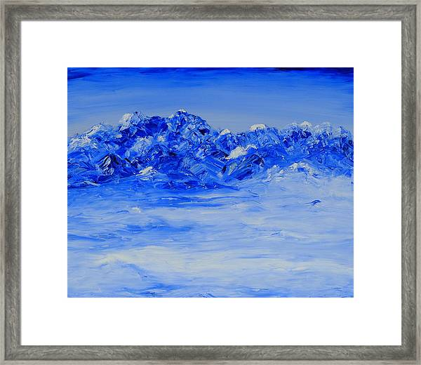 Winters Frosty Hues Framed Print