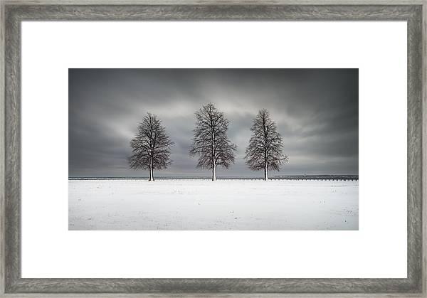 Winter's Halo Framed Print