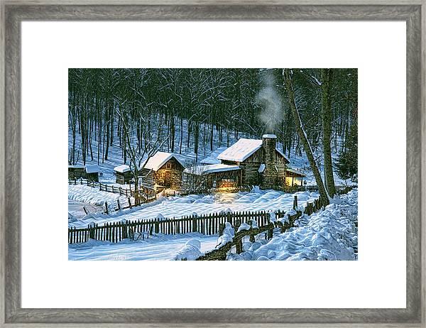 Winter's Haven Framed Print