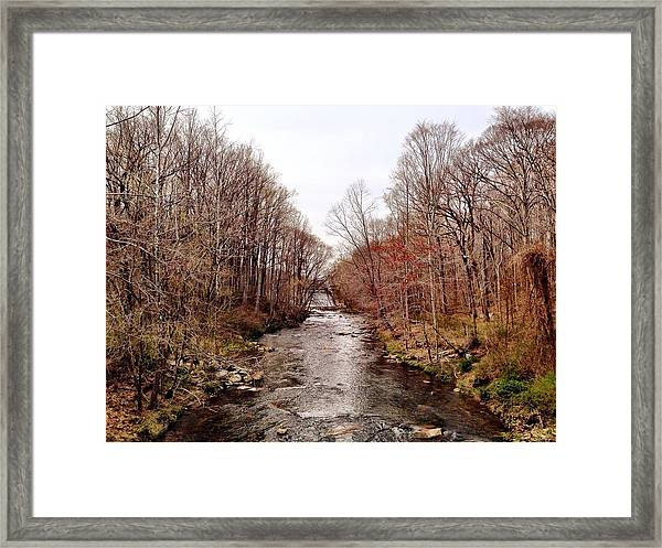 Winters Run Framed Print