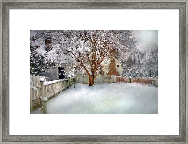 Wintry Garden Framed Print