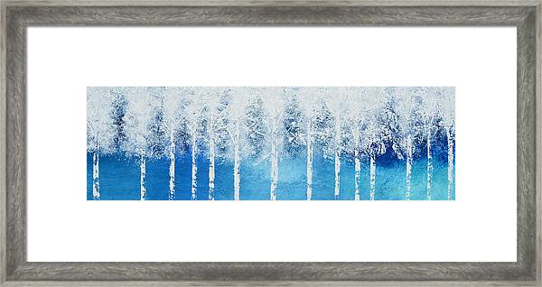 Wintry Mix Framed Print