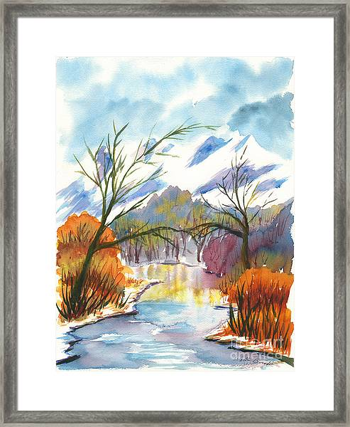 Wintry Reflections Framed Print