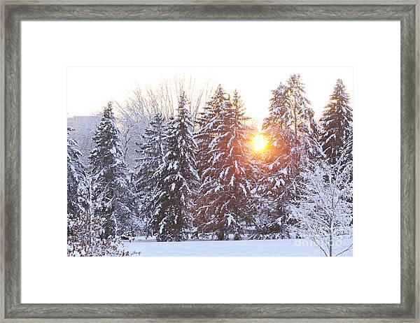 Wintry Sunset Framed Print