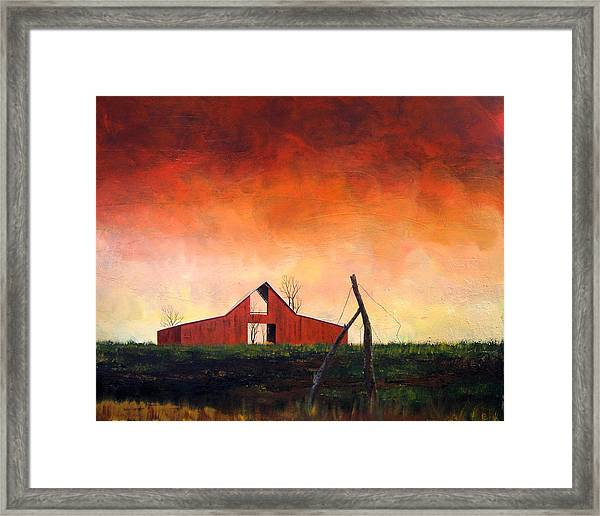 Wired Down Framed Print