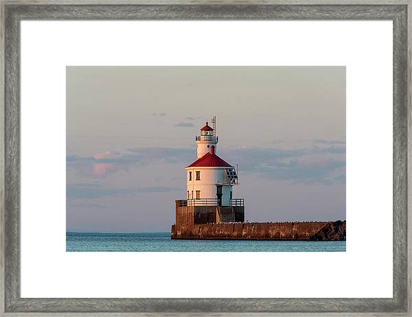 Wisconsin Point Lighthouse Framed Print