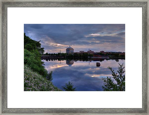 Wisconsin River Reflection Framed Print